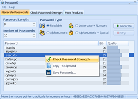 PassworG - free password generator software